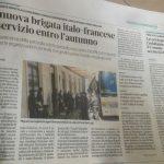 media Il Secolo XIX nuova brigata italo-francese sept 2020